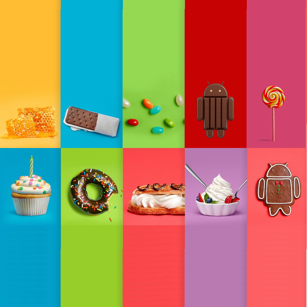 each major Android update,