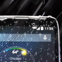 Not water-resistant like the Samsung Galaxy S5, the Motorola DROID Turbo is splash-resistant