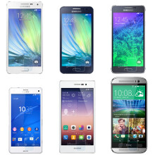 Full metal jacket: Galaxy A3 vs A5 vs iPhone 6 and others size comparison