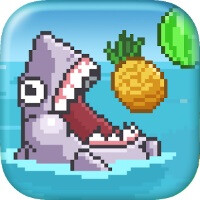 Glory to the absurd - Salad Shark lets you play a vegan shark