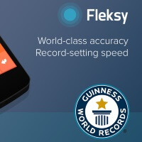 Fleksy keyboard app bests own Guiness record for fast touch-screen typing, price reduced by half for eternity