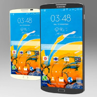 Video displays Samsung Galaxy S6 and Samsung Galaxy S6 Edge concept devices