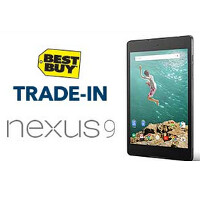 Best Buy gives you at the least, $100 on a tablet trade in for the Nexus 9