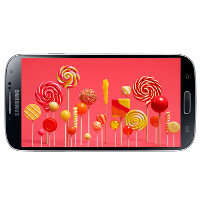 This is Android 5.0 Lollipop running on the Samsung Galaxy S4 Google Play edition