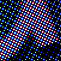 Note 4 put under the microscope, reveals a PenTile diamond pixel matrix screen
