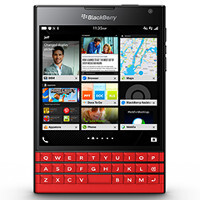 White and Limited Edition (red) versions of the BlackBerry Passport snapped in high-res