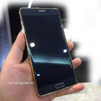The Samsung Galaxy Note Edge might have a gold-plated version, we have some photos to prove it