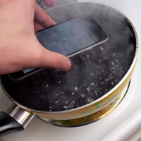 Watch the iPhone 6 getting hardboiled, in a pan of sizzling Coke