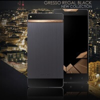 The Gresso Regal Black is a handsome titanium & gold luxury smartphone