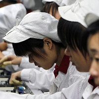 Hidden camera footage shows the exhausted workers in an iPhone 6 and iPhone 6 Plus factory