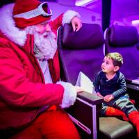 Passengers get free Microsoft tablet and meet Santa on Virgin Atlantic flight
