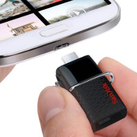 SanDisk flash drive uses your Android phone or tablet\u0027s micro-USB