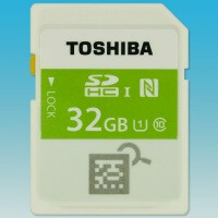 Toshiba announces SDHC memory card with built-in NFC transmitters for preview functionality