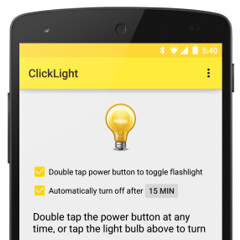 How to quickly turn on the flashlight (using the power button) on Android