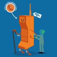 This infographic treats us to a brief history of cell phones and mobile technology