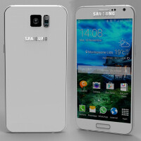 This is the Samsung Galaxy S6 according to the newest rumors; somewhat reminds of an iPhone 6