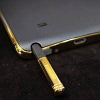 Real-life pictures show the exclusive, gold-plated Samsung Galaxy Note Edge