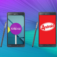 Note 4 with Lollipop vs Note 4 with KitKat: UI comparison
