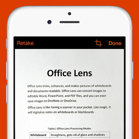 Microsoft's Office Lens app turns your iPhone or Android handset into a powerful pocket scanner