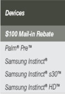 Sprint rebate sheet reveals Samsung Instinct HD part of the lineup