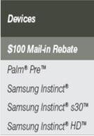 Sprint rebate sheet reveals Samsung Instinct HD part of the lineup