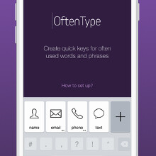 OftenType keyboard extension for iOS 8 speeds up your text entry