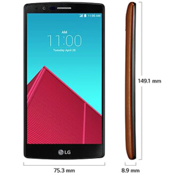 LG G4 size comparison with the Galaxy S6, S6 edge, Note 4, iPhone 6, 6 Plus, HTC One M9, and others