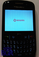 Rogers BlackBerry Curve 8520 sits for a picture