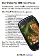"""Sim-free"" Palm Pre pops up in the UK for two online retailers"