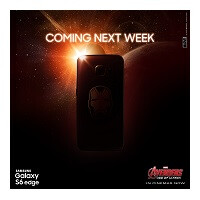 First glimpse of Iron Man edition Samsung Galaxy S6 edge