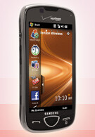 Samsung Omnia II pictured for Verizon