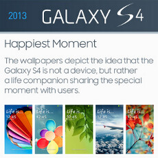 Wallpaper evolution: Samsung outs infographic of the 'iconic' Galaxy S line backgrounds