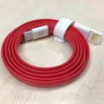 Accessory porn - the OnePlus Two's USB Type-C cable looks smoking in red