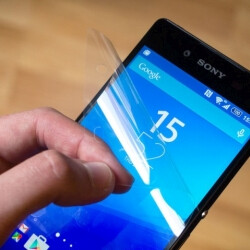 The Sony Xperia Z3+ comes with a display protector out of the box