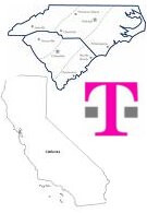 T-Mobile continues to roll out 3G network - now available in NC, SC, and CA