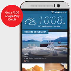 HTC One M9 now comes with a $100 Google Play credit at Verizon