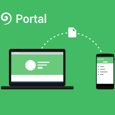 Portal app makes phone-to-computer file transfer a drag-and-drop effort