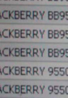 Verizon's inventory system shows BlackBerry Storm 2 9550 and Curve 8530
