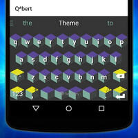 "Android users can now select five new themes for SwiftKey inspired by Sony's ""Pixels"" movie"
