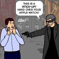 Humor: How technology is really helping thwart smartphone and wearable theft