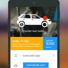 Turn your aging car into a smart one with this materially designed Dash app