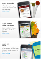 Apple starts a page called Apps for Everything