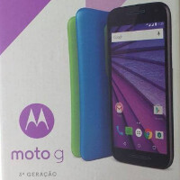 Photos reveal box for the third-generation Motorola Moto G; model shown has 16GB of memory