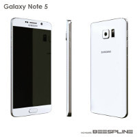 Renders and 3D printed model of the Galaxy Note 5 showcased in images, video