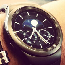 This is the Samsung Gear S2 smartwatch in real life
