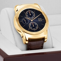 LG intros the 23 karat gold-plated Watch Urbane Luxe, alligator leather strap included