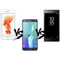 iPhone 6s Plus vs Xperia Z5 Premium vs Galaxy S6 edge+ specs comparison