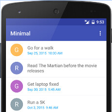minimal to do is a fast and fresh to do list app dressed in material