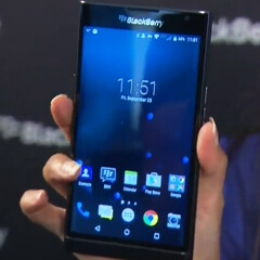 Meet the Android-based BlackBerry Priv as showcased by John Chen: curved 5.5-inch screen confirmed