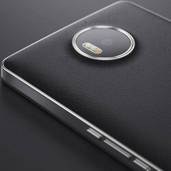 Third-party back covers for the Lumia 950 and Lumia 950 XL appear online, leather variants included